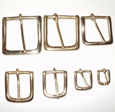 West End Buckle Solid Cast Brass Belt Strap Buckle 7 Sizes - 0.75 Inch - 2 Inch
