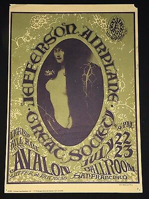 Jefferson Airplane Great Society Fillmore Era Family Dog Poster  1966 FD 17