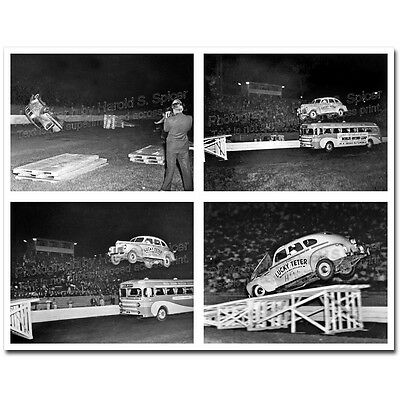 Photos - 1940 Plymouth Lucky Teter Thrill Show Baltimore 1942 (set of 2)