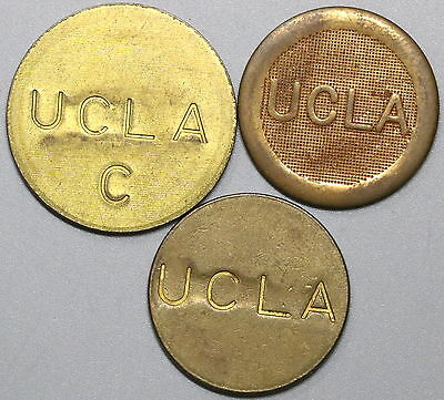1970s UCLA Lot of Three Parking Tokens (16122805R)