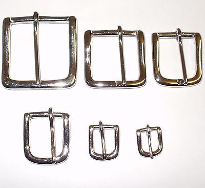 "West End Belt Buckle Strap Nickel Various Sizes 2"" - 1.5"" - 1.25"" - 1"" Inch"