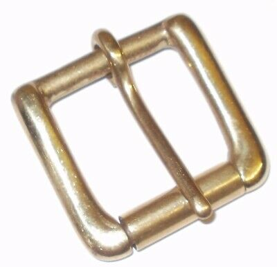 "Solid Brass Single Roller West End Buckle  2"" - 1.5"" - 1 1/4"" - 1"" - 3/4 Inch"