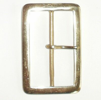 "3"" Inch  - 75Mm Brass Rectangular Full Belt Buckle"