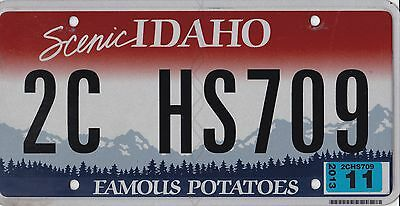 🚨🚨☀️☀️ 🏁 Authentic Usa 2011 Idaho License Plate.  Famous Potatoes