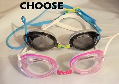 c31436b65e6 NIKE Remora Fem Jr tinted or clear lens pink blue competition Swimming  goggles
