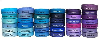 "5 Yards  3/8"" 5/8"" 7/8"" 1.5"" Solid Offray Grosgrain Ribbon U Pick Color & Size 2"