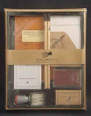 Retro Home Library Kit - Everything you need to get your books returned - NIB