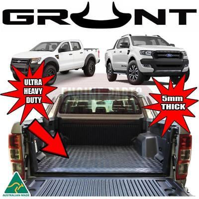 Grunt 4x4 Rubber Checker Plate Ute Tray Mat Ford PX Ranger With Tub Liner