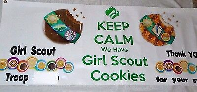"GIRL SCOUT Cookie Sale Single-Sided Outdoor Vinyl Banner 60"" x 23"""
