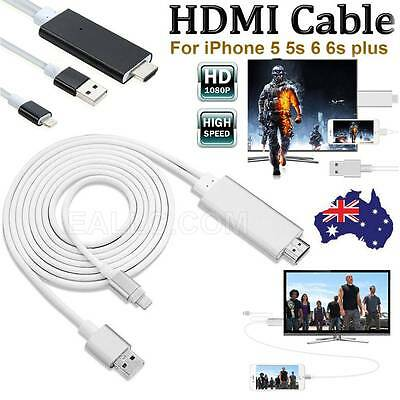 Digital Adapter 8Pin Lightning to HDTV AV HDMI Output Cable for iPhone6 6s 5s AU