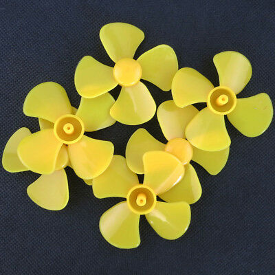 ABS Plastic Four-Blade Propeller Model DIY Toy Airplane Fan 1.5x60mm Yellow