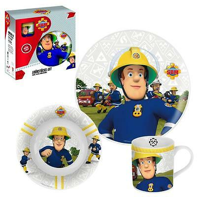 Fireman Sam - Porcelain Kids Dinnerware Set Breakfast (3 pcs)