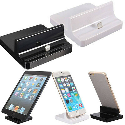 Charging Dock Stand Charger Station Cradle Fit iPhone 4/5/6/s Plus/iPad/air/Mini