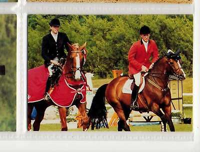 #183 charlotte & thomas velin equestrian collector card