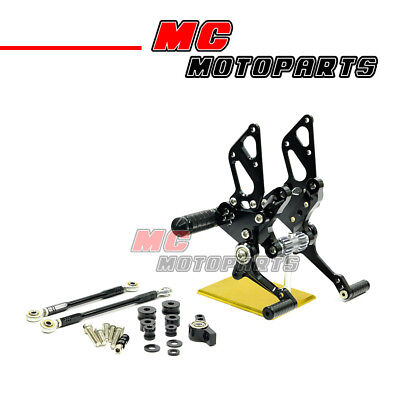 Black CNC Rearsets Racing Foot Pegs For Ducati 848 / 1098 / 1198 All Year