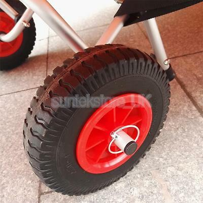 Small Puncture Proof Rubber Tyres on Red Wheel - Kayak Trolley/Trailer Wheel