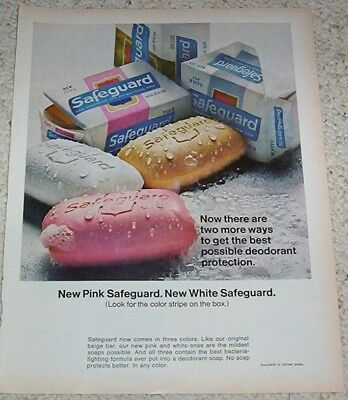 1960s advertising page - Safeguard skin deodorant Soap ADVERT Print AD