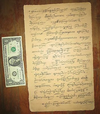 Northern Thailand Antique old Lanna Script Literature Documents Book, Thai Laos