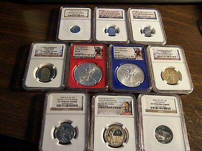 (Lot Of10)-Ngc Graded Pr 70 & Ms-70 Only Coins-Exact Coins Shown-So Worth The $