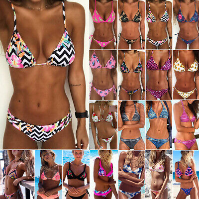 Women Bikini Set Bandage Push-Up Padded Swimwear Swimsuit Bathing Brazilian