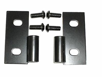 Black Lower Door Hinge Set for Jeep CJ Wrangler YJ TJ 1976-2006 Smittybilt 7607