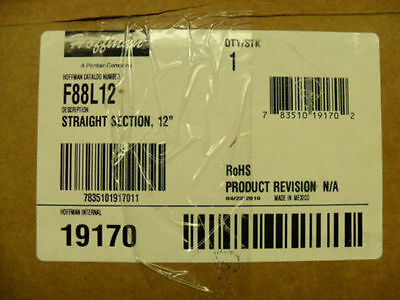 """Hoffman F88L12 Lay-in Wireway Straight Section 12"""" (305mm) #19170 New in Box"""