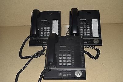 Panasonic Digital Proprietary Telephone Kx-T7625-B Lot Of 3