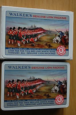 Walker's Genuine Lion Packing Playing Cards by Waddington Sealed Pack In Box #