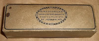 Antique Box Kirkpatricks Jewelers St Joseph MO Undocumented 1800's Silversmith