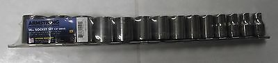 """Armstrong 15-521A 1/2"""" Drive 14pc 12 Point SAE Socket Set USA"""