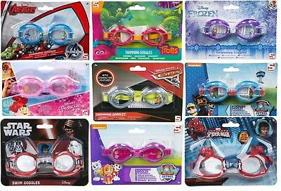 Kids Childrens Boys Girls Character Swimming Goggles Paw Patrol Avengers Frozen
