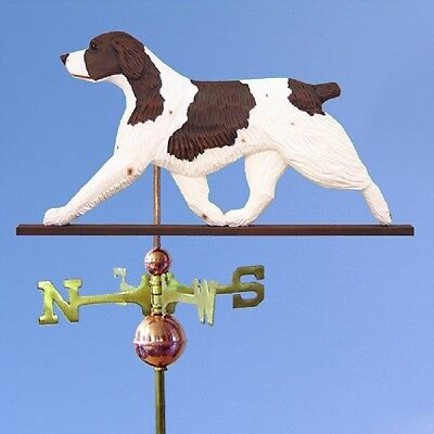 Brittany Spaniel Hand Carved Hand Painted Basswood Dog Weathervane Liver