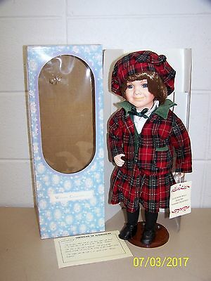 """NEW Windsor Collection Doll """"Courtney"""" SCOTTISH - 18"""" w/Doll Stand NEW"""