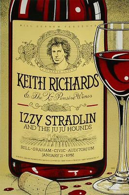 KEITH RICHARDS And The X-PENSIVE WINOS Izzy Stradlin  Concert Poster 1993