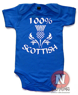100% Scottish Cute Babygrow Baby Suit Great Gift vest Scotland thistle