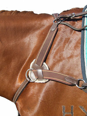 Ecotak 5 - point Breastplate - Brown with brown elastic XL (extra full) size Eco
