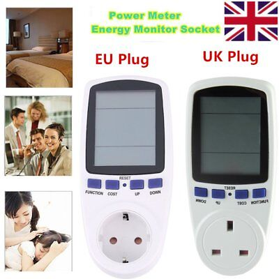 New EU Plug Energy Meter Watt Volt Voltage Electricity Monitor Analyzer Power HT