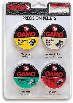 Gamo 632092754 COMBO PAK 1000 ASSORTED PELLETS .177 CAL