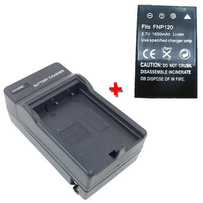 KLIC-5001 Battery + Charger for KODAK Easyshare DX6490 DX7590 DX7630 Z730 Camera