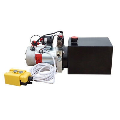 Heavy Duty Hydraulic Pump KIT:DC 12V 6 Quart Double Acting & Remote Control