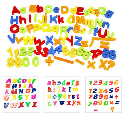ALPHABET LETTERS Number Magnetic Fridge Baby Kids Learning Teaching Games Toys