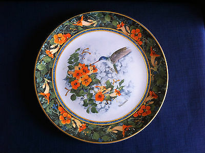 """Royal Doulton """"The Violet Crowned Hummingbird """" plate"""