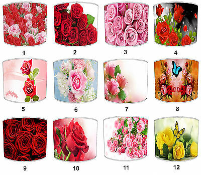 Floral Flower Roses Lampshades Ideal To Match Roses Cushions & Roses Duvets.