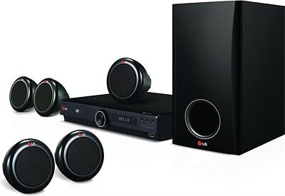 LG DH3140S 5.1 DVD Home Theatre System 300W - 4 Satellite Speakers - DVD Player