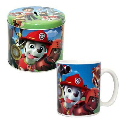 Paw Patrol - Children Gift Set Cup Mug Porcelain & Moneybox