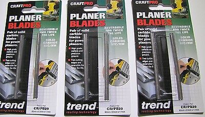Trend Planer Blade Set 3 PACKS x 2 82mm fits Makita Dewalt Bosch - CR/PB29