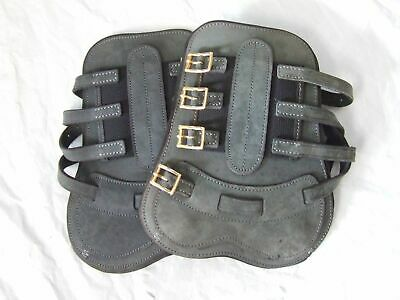 Classic Equine Grey Leather Open front Boots - small