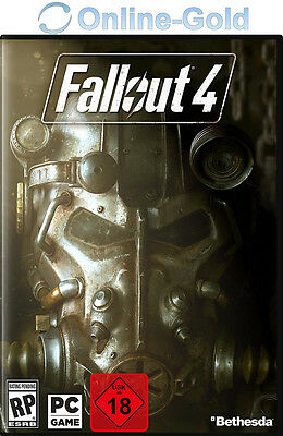 Fallout 4 Key - STEAM Digital Download Code - PC Standard Version USK18 [EU][DE]