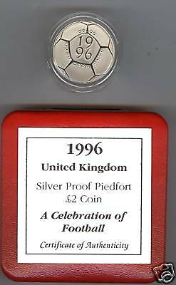1996 Boxed Piedfort Silver Proof £2 A Celebration Of Football