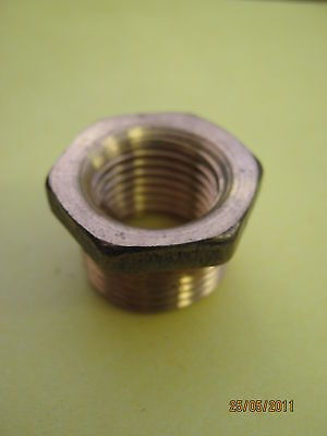 Brass Bush Bsp For Pipes For Reducing / Enlarging Choice Of Sizes